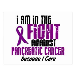 En la lucha contra CUIDADO del cáncer pancreático Tarjeta Postal