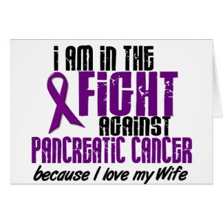 En la lucha contra ESPOSA del cáncer pancreático Tarjetas