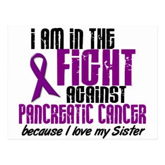 En la lucha contra HERMANA del cáncer pancreático Tarjeta Postal
