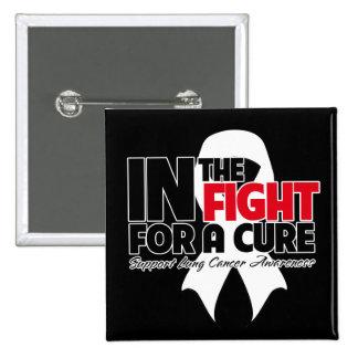 En la lucha para una curación - cáncer de pulmón pin cuadrado