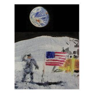 En la luna postal
