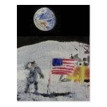 En la luna tarjetas postales