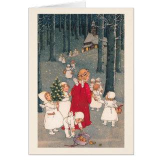 """""""En la manera tarjeta de Navidad de la iglesia"""""""