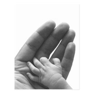 En la mano del papá