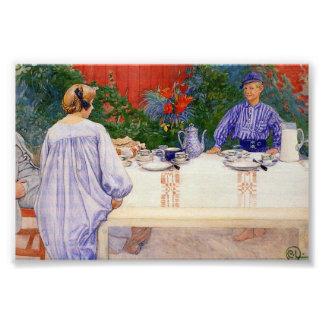 En la mesa de desayuno 1910 fotografía