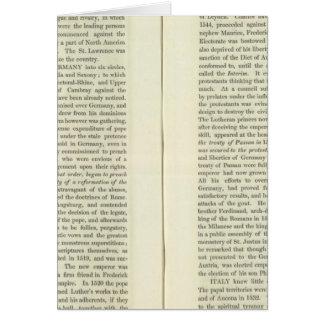En la muerte de Charles V 1551 Tarjeta De Felicitación