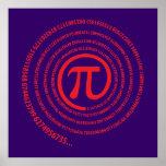 En la muestra del pi, versión espiral impresiones