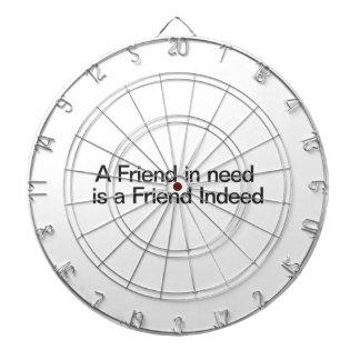 En la necesidad se conoce a los verdaderos amigos tablero de dardos