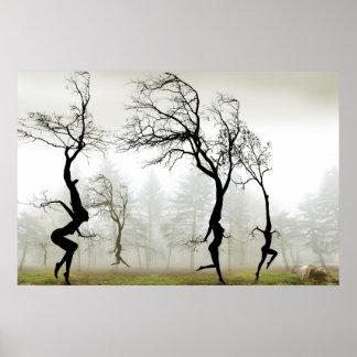 En la niebla póster