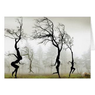 En la niebla tarjeta de felicitación
