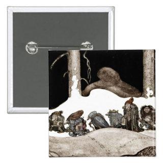 En la noche de navidad Tomte-Nisse Pin Cuadrado