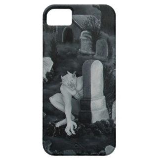 En la noche en el cementerio - diablo iPhone 5 carcasa