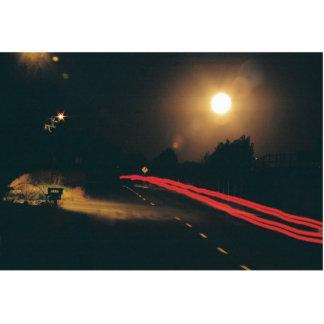 En la noche fotoescultura vertical