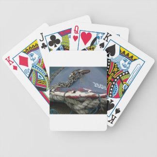 En la orilla baraja cartas de poker