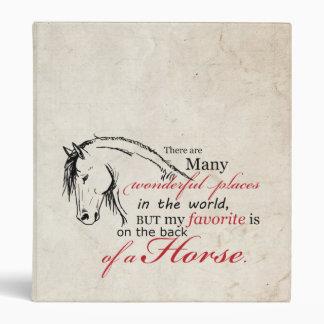 En la parte de atrás de un caballo