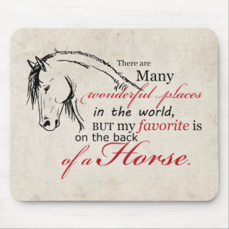 En la parte de atrás de un caballo alfombrilla de raton