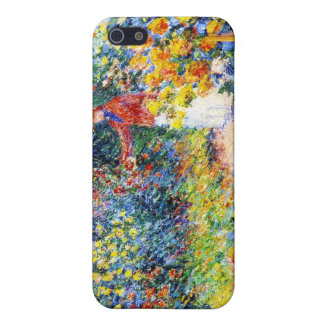 En la pintura de la mujer de Claude Monet del jard iPhone 5 Carcasas