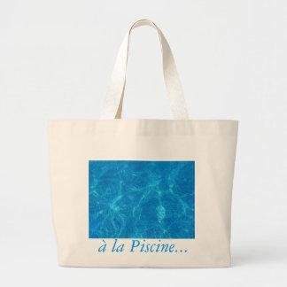 en la piscina… bolsa tela grande