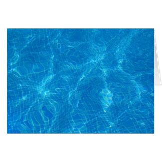 en la piscina… tarjeta de felicitación