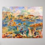 En la playa de Guernesey de Alfred Sisley Posters