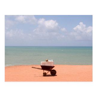 En la playa en natal/el Brasil Postal
