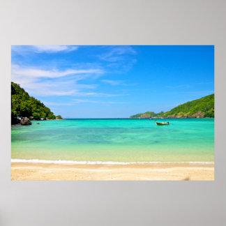 En la playa en Tailandia Póster