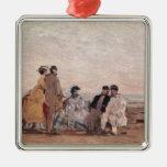 En la playa en Trouville, c.1865 Ornamento Para Reyes Magos