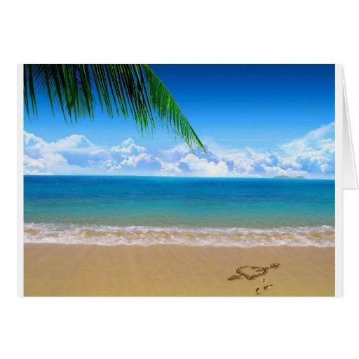 en la playa felicitacion