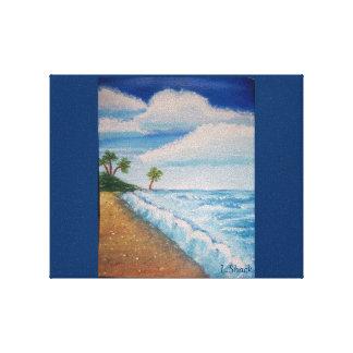En la playa impresión en lienzo