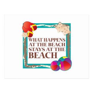 En la playa postal
