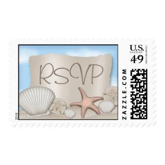 En la playa - RSVP que casa sellos