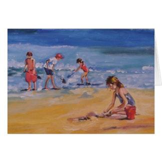En la playa tarjetón