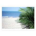 En la playa tarjeta postal
