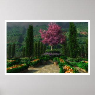 En la plena floración póster