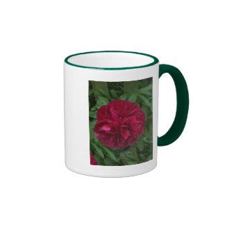 En la plena floración tazas de café