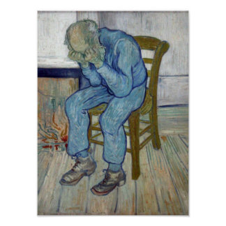 En la puerta de la eternidad de Vincent van Gogh Poster