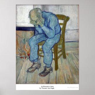 En la puerta de la eternidad de Vincent van Gogh Póster