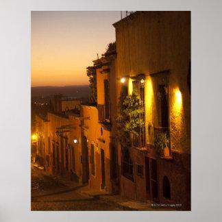 En la puesta del sol posters