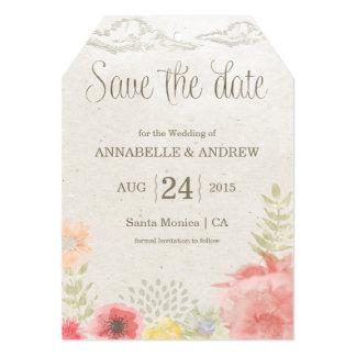 En la reserva del boda del verano del prado la invitación 12,7 x 17,8 cm