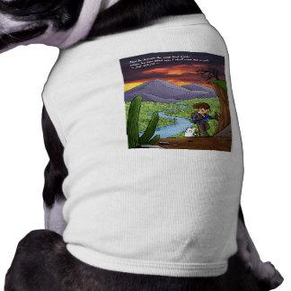 En la ropa del mascota del desierto camiseta de mascota