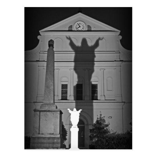 En la sombra de Jesús Tarjeta Postal