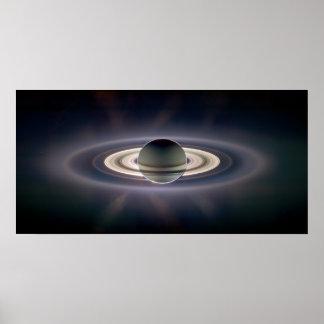 En la sombra de Saturn aumentada Póster