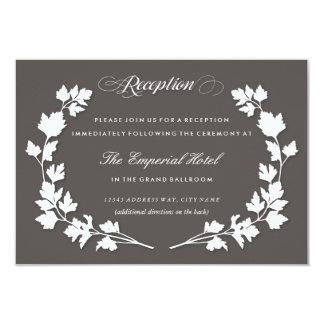 En la tarjeta de la recepción nupcial del jardín invitación 8,9 x 12,7 cm