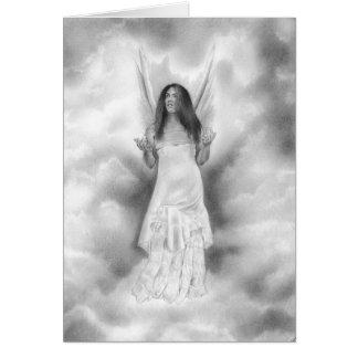 En la tarjeta de las manos de dios