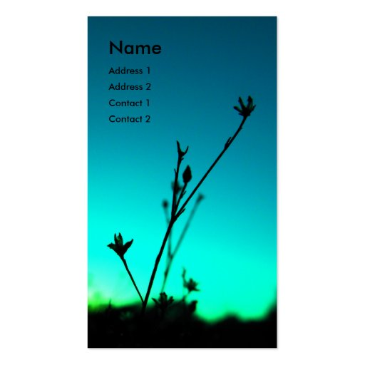 En la tarjeta ideal del perfil tarjetas de visita