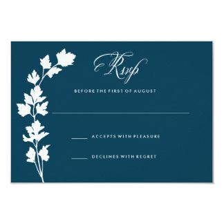 En la tarjeta RSVP de la respuesta del boda del Invitación 8,9 X 12,7 Cm