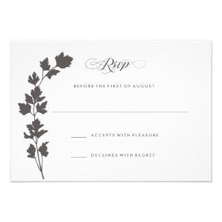 En la tarjeta RSVP de la respuesta del boda del ja Invitacion Personalizada