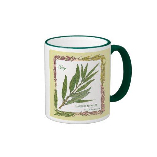 En la taza de la hoja de laurel del ~ del jardín