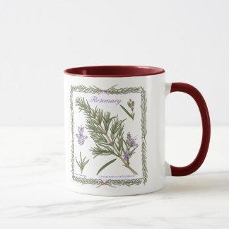 En la taza de Rosemary del ~ del jardín