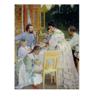 En la terraza, 1906 postales